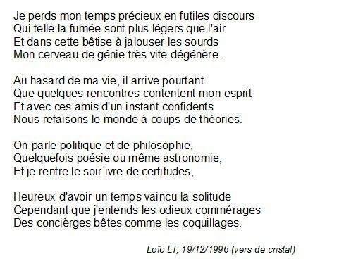 poème, poésie, vers de cristal, sonnet