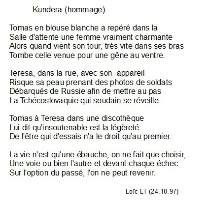 Poèmes Loïc Lespèce De Blog